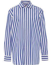 Ralph Lauren - Capri Striped Cotton-poplin Button Down Shirt - Lyst