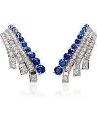 Hueb | 18k White Gold Sapphire Earrings | Lyst