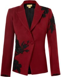 Nadya Shah - Black Rose Jacket - Lyst