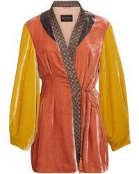 Etro - Penrose Embroidered Velvet Jacket - Lyst