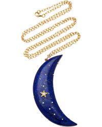 Andrea Fohrman - Galaxy Lapis Crescent Necklace - Lyst