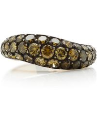 Gioia - 18k Gold And Green Diamond Ring - Lyst
