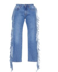 MSGM - Fringe Jeans - Lyst