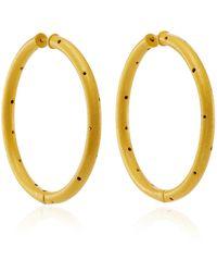 Paula Mendoza - Zenu Gold-plated Brass Hoop Earrings - Lyst