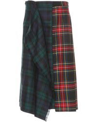 Tuinch - Wool Maxi Kilt Skirt - Lyst