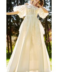 Costarellos Bridal - Off-the-shoulder Puffy Sleeve Gown - Lyst