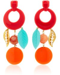 Lulu Frost One-of-a-kind Vintage Cherry Red Earrings