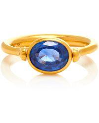 Marie-hélène De Taillac - One-of-a-kind Blue Sapphire Swivel Ring - Lyst