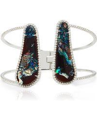 Nina Runsdorf - Double Boulder Opal And Pave Diamond Bracelet - Lyst