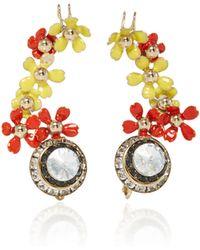 Elie Saab - Blossom Flower Earrings - Lyst