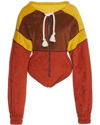 Philosophy Di Lorenzo Serafini - Rope Tie Cotton Body Suit - Lyst