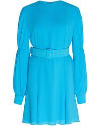 Emilia Wickstead - Philippa Long-sleeve Mini Dress - Lyst
