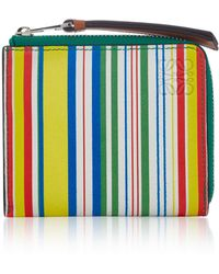 Loewe - Small Striped Leather Wallet - Lyst