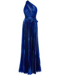 Elie Saab - Lame Crepe One Shoulder Gown - Lyst
