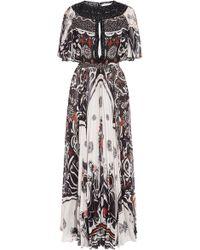 Zuhair Murad - Koli Graphic Print Chiffon Dress - Lyst