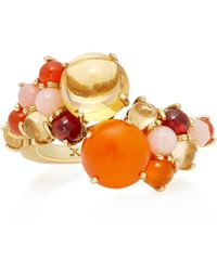 Daria de Koning - Dagny 18k Yellow Gold Multi-stone Stacking Ring - Lyst