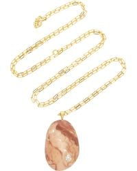 CVC Stones - Buenos Aires 18k Gold, Beach Stone And Diamond Necklace - Lyst
