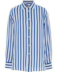 Ralph Lauren - Adrien Silk Striped Shirt - Lyst