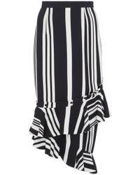 SemSem - Striped Deconstructed Skirt - Lyst