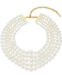 Fallon - Faux Pearl Gold-plated Choker - Lyst