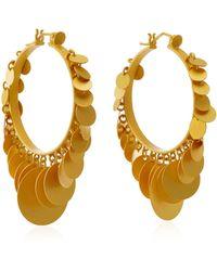 Paula Mendoza - Embera Gold-plated Brass Hoop Earrings - Lyst