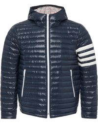 Thom Browne - Navy Quilted Hooded Down Jacket - Lyst