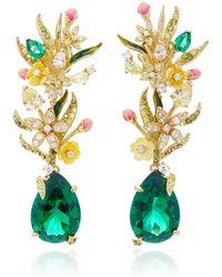 Anabela Chan - Exclusive Posie 18k Yellow Gold Multi-stone Earrings - Lyst