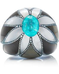 Arunashi - One-of-a-kind Paraiba And Mother Of Pearl Ring - Lyst