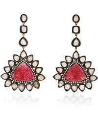 Amrapali - 14k Gold Tourmaline And Diamond Earrings - Lyst