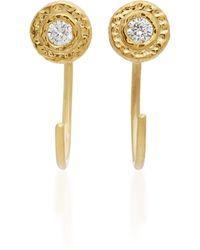 Octavia Elizabeth - 18k Gold Diamond Earrings - Lyst