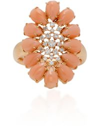Sutra - Pink Opal And Diamonds Ring - Lyst