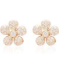 Colette - 18k Gold And Diamond Earrings - Lyst