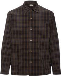 Camoshita - Collared Plaid Shirt - Lyst