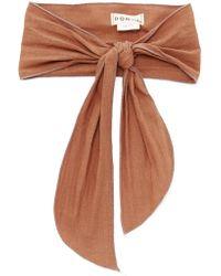 DONNI. - Gigi Linen-blend Headband - Lyst