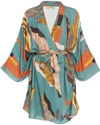 Adriana Degreas - Bahiana Oversized Short Robe - Lyst