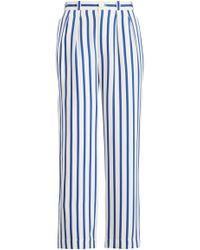 Ralph Lauren - Caldwell Striped Silk Pant - Lyst