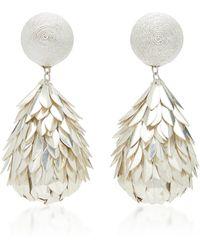 Rebecca de Ravenel - M'o Exclusive Metal Petal Drop Earrings - Lyst