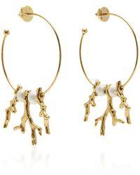 Oscar de la Renta - Metal Coral Branch Earrings - Lyst
