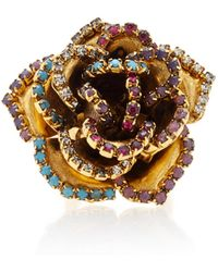 Erickson Beamon | Vermeil And Swarovski Crystal Bouquet Ring | Lyst