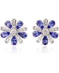 Hueb - Exclusive 18k White Gold, Tanzanite And Diamond Earrings - Lyst