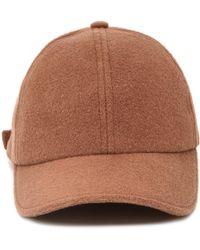 Officine Generale - Brown Wool-cashmere Baseball Cap - Lyst