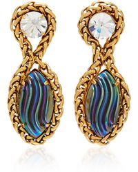 Nicole Romano - Palmer 18k Gold Plated Chain And Glass Earrings - Lyst