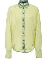 Proenza Schouler - Washed Denim Cotton Cocoon Shirt - Lyst