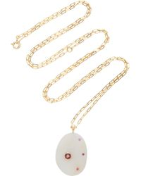 CVC Stones - My Angel 18k Gold, Stone And Ruby Necklace - Lyst