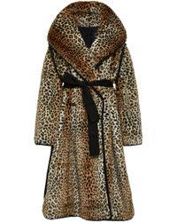 Philosophy Di Lorenzo Serafini - Belted Leopard-print Faux Shearling Coat - Lyst