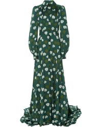 Carolina Herrera - Puff-sleeve Fitted Trench Gown - Lyst