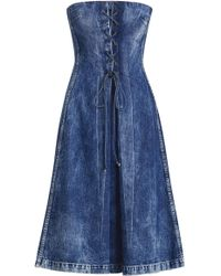 Ralph Lauren - Esmee Denim Strapless Dress - Lyst