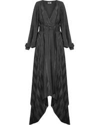 Dalood - Striped Maxi Wrap Dress - Lyst
