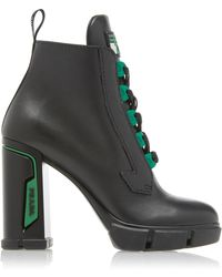 Prada - Tronchetti Leather Ankle Boots - Lyst