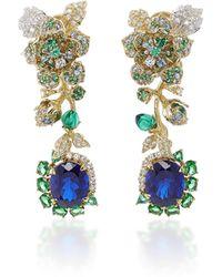 Anabela Chan - Aquamarine Rose Earrings - Lyst